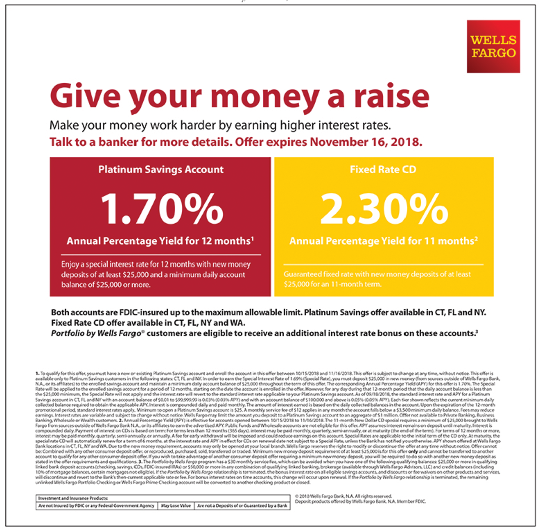 Enjoy A Special Interest Rate in Callahan, FL, Banks - Wells Fargo